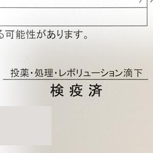 証明書には「レボリューション滴下済み」と記載もあり、使用した事が分かります。